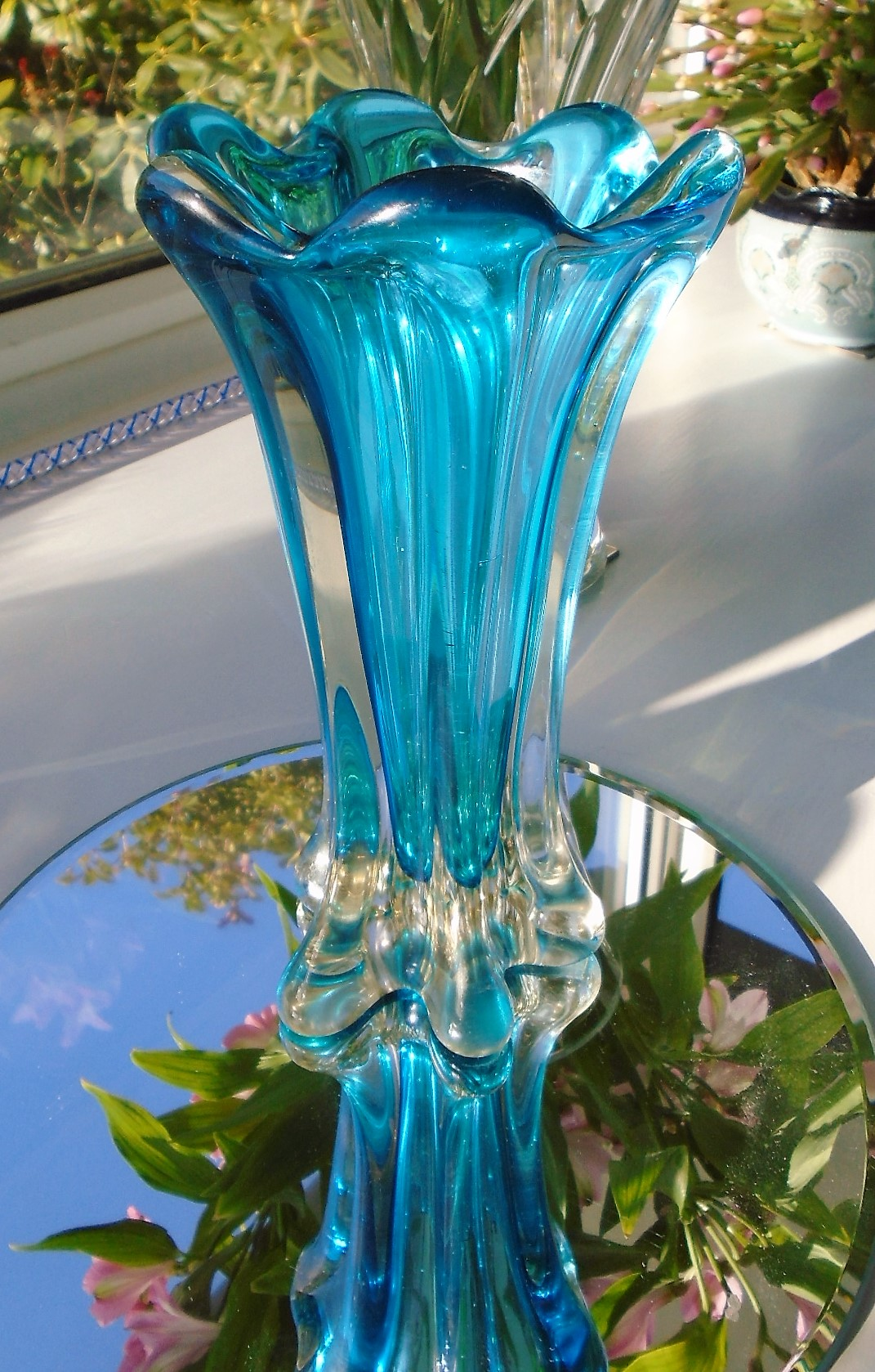 Stunning Mid Century MURANO SOMMERSO GLASS VASE attributed to Flavio Poli