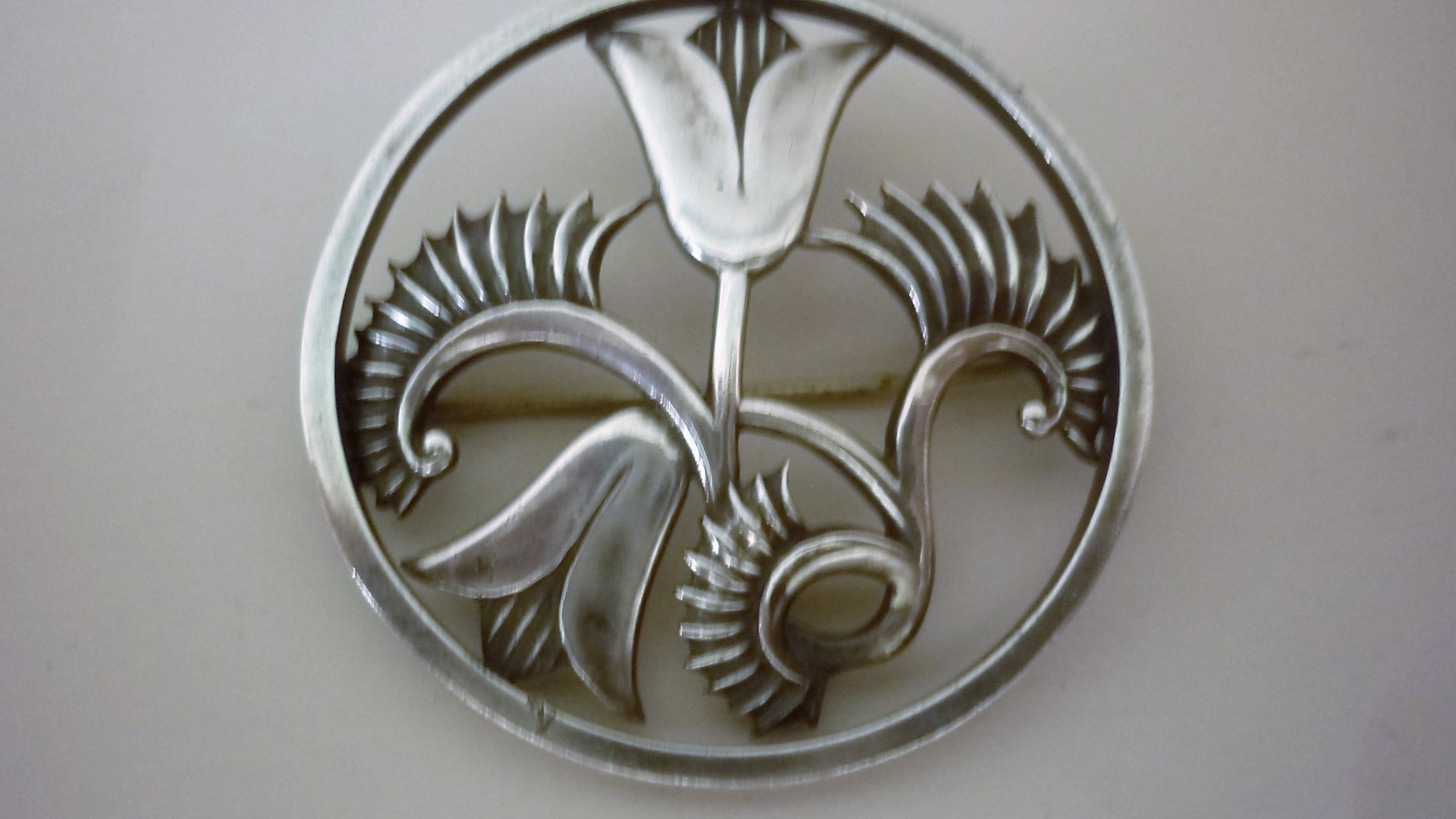 Modernist Hallmarked Silver Brooch Designed by Geoffrey Bellamy for George Tarratt