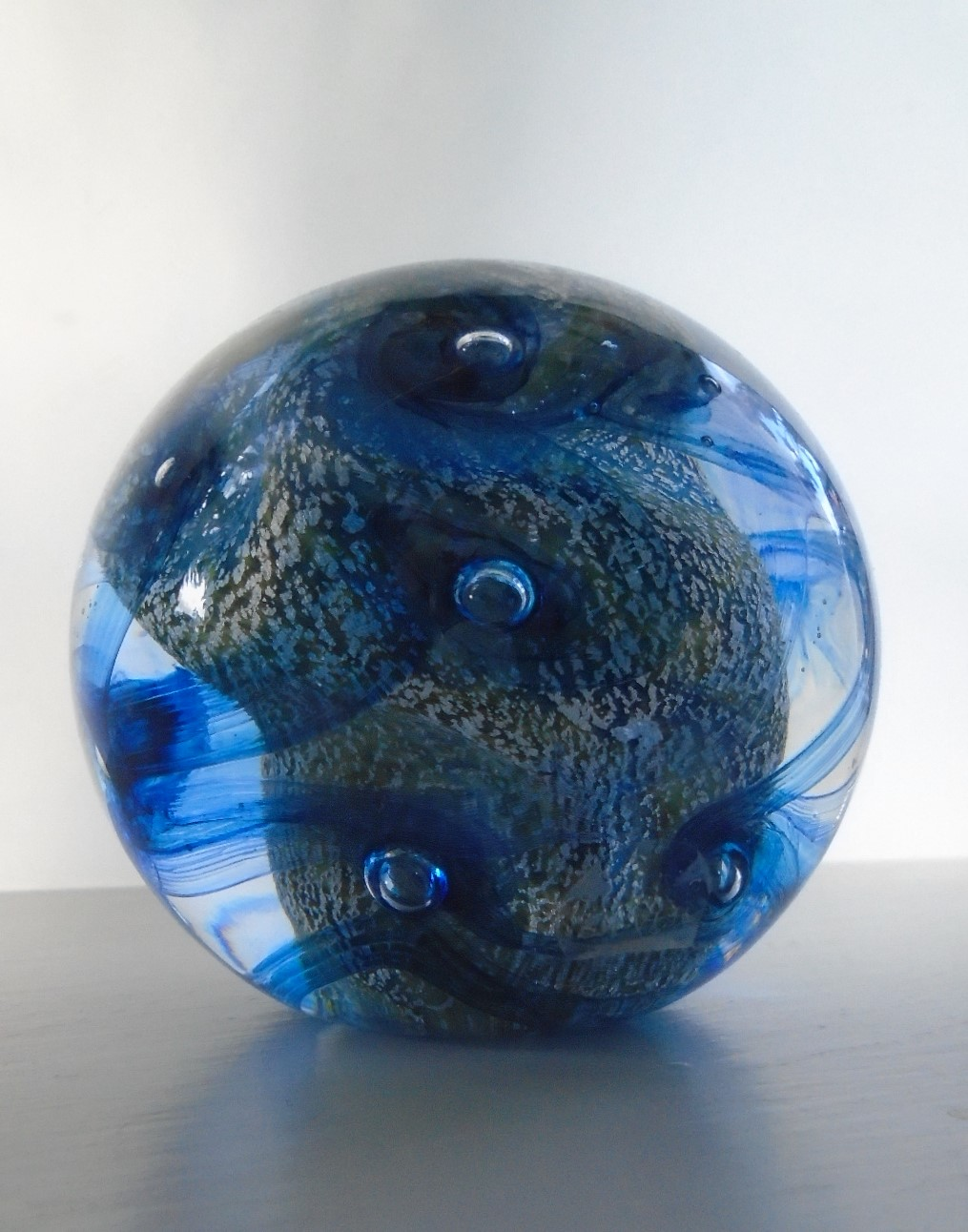 English Paperweight Design from Paul Critchley of Sculptglass on the Isle of Wight.
