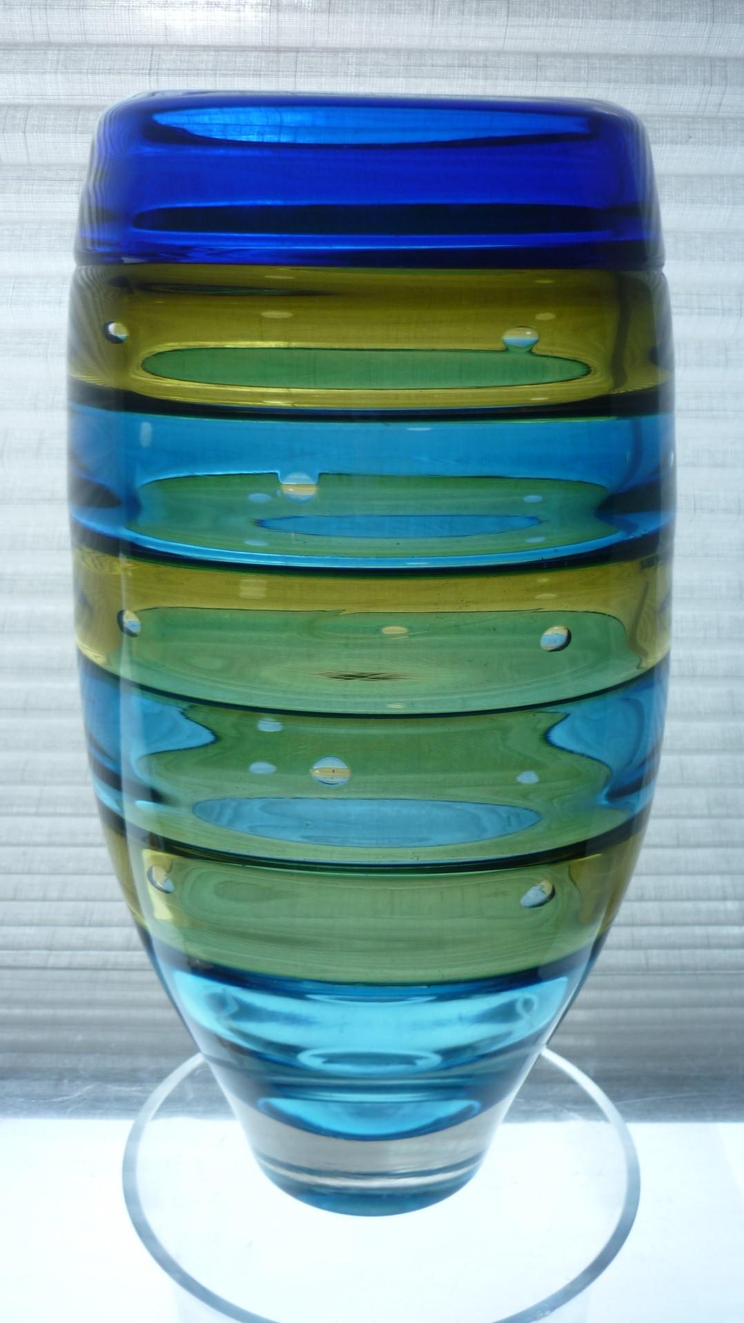 Superb piece of Studio Glass from English glass maker Stuart Ackroyd.