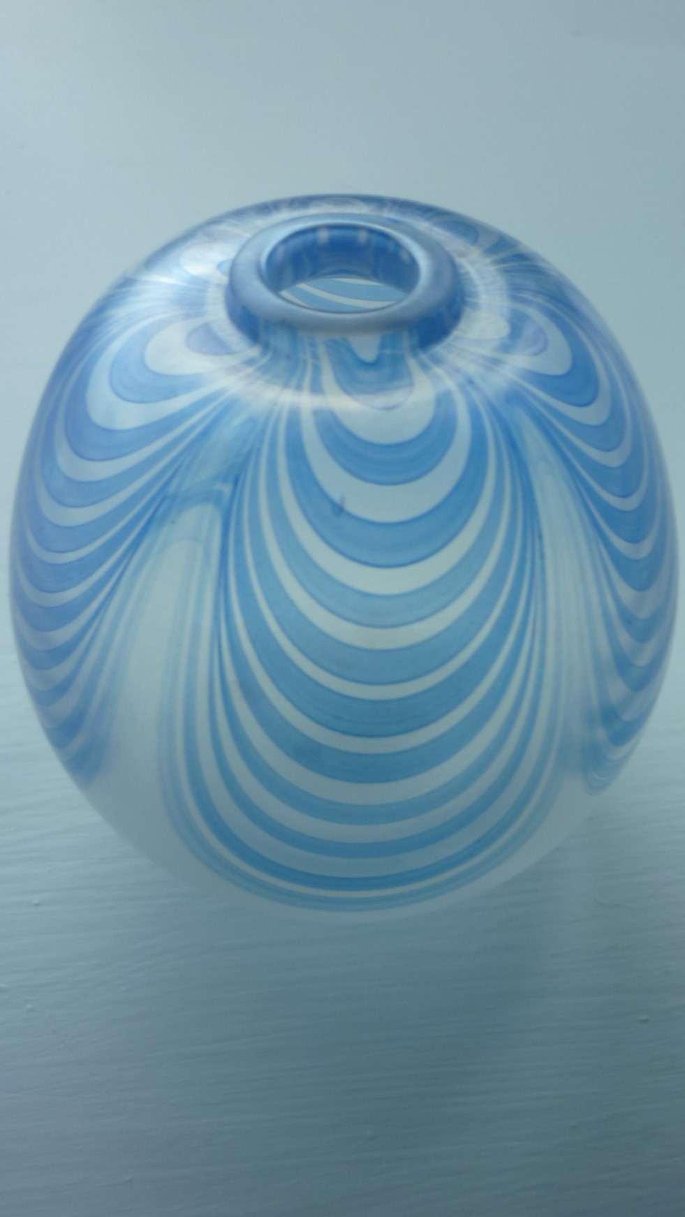 Small charming Wallace and Sanders Glass Iridescent Vase