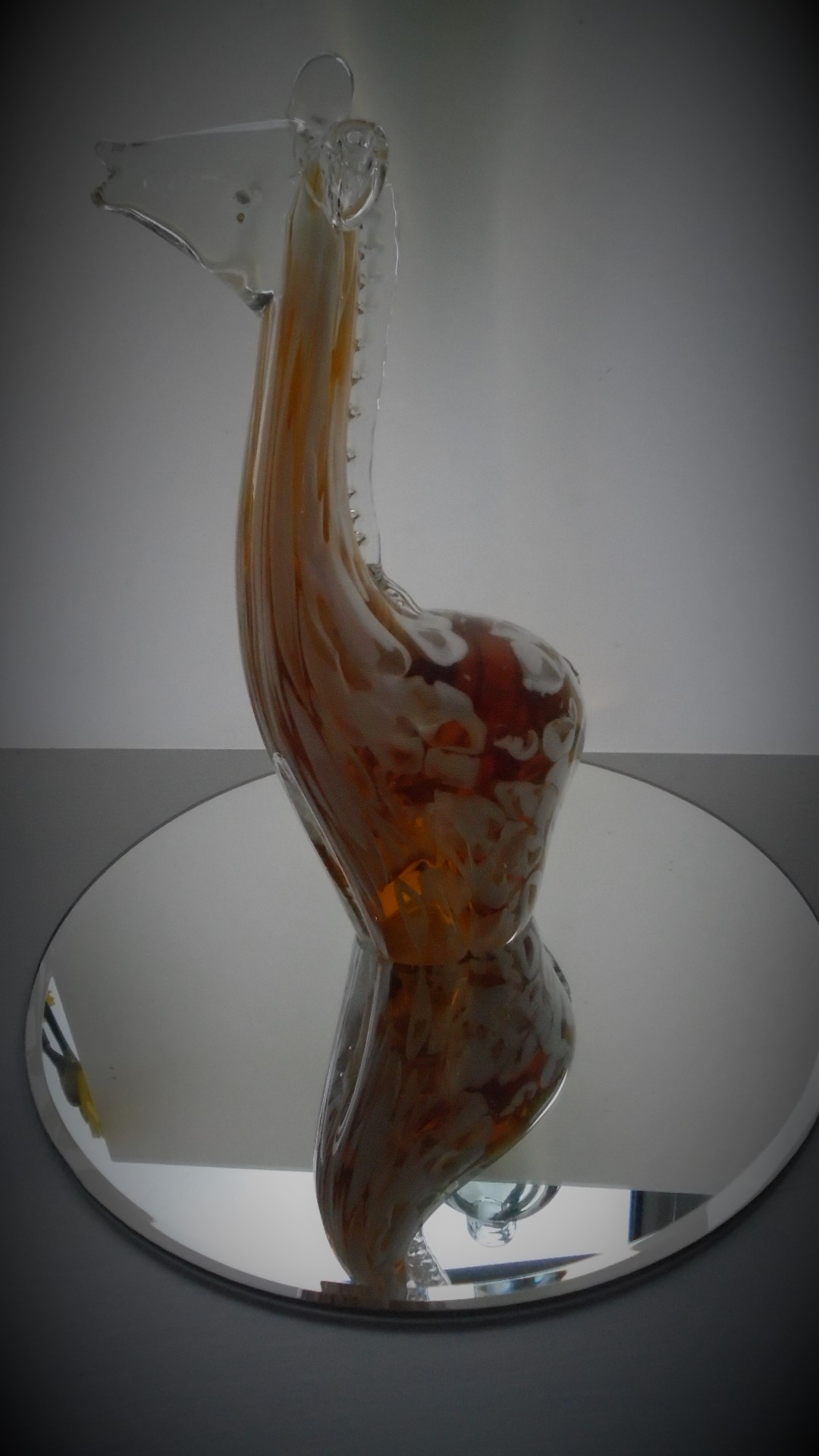 Offered for sale is a fine example of a vintage Murano Glass Giraffe figurine.