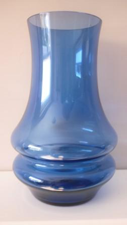 Vintage 70s  Tamara Aladin Rhiimaki Blue double hooped vase.