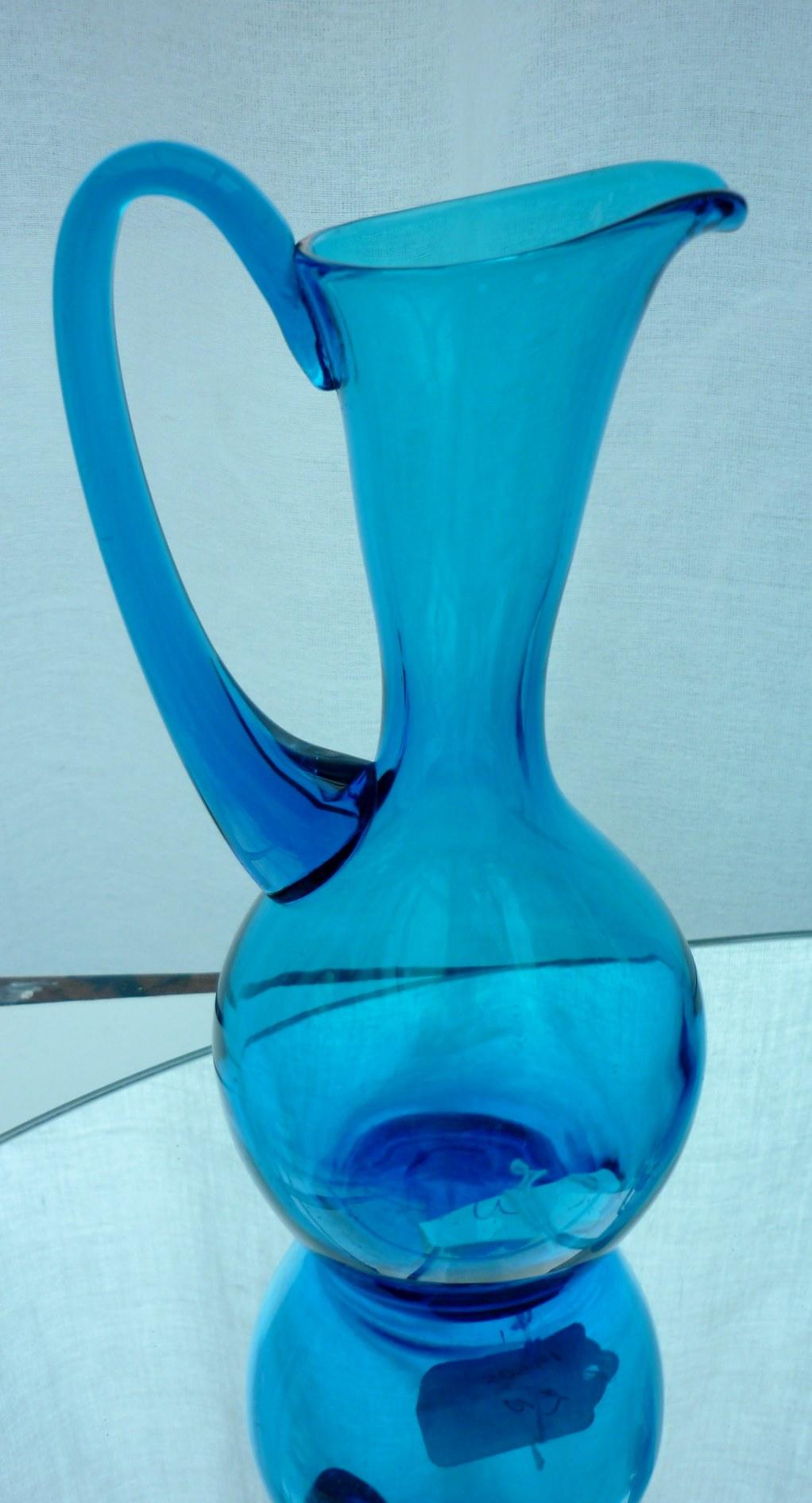 Whitefriars Kingfisher Blue Jug.