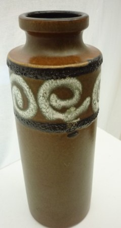 vintage West German Scheurich ceramic  vase