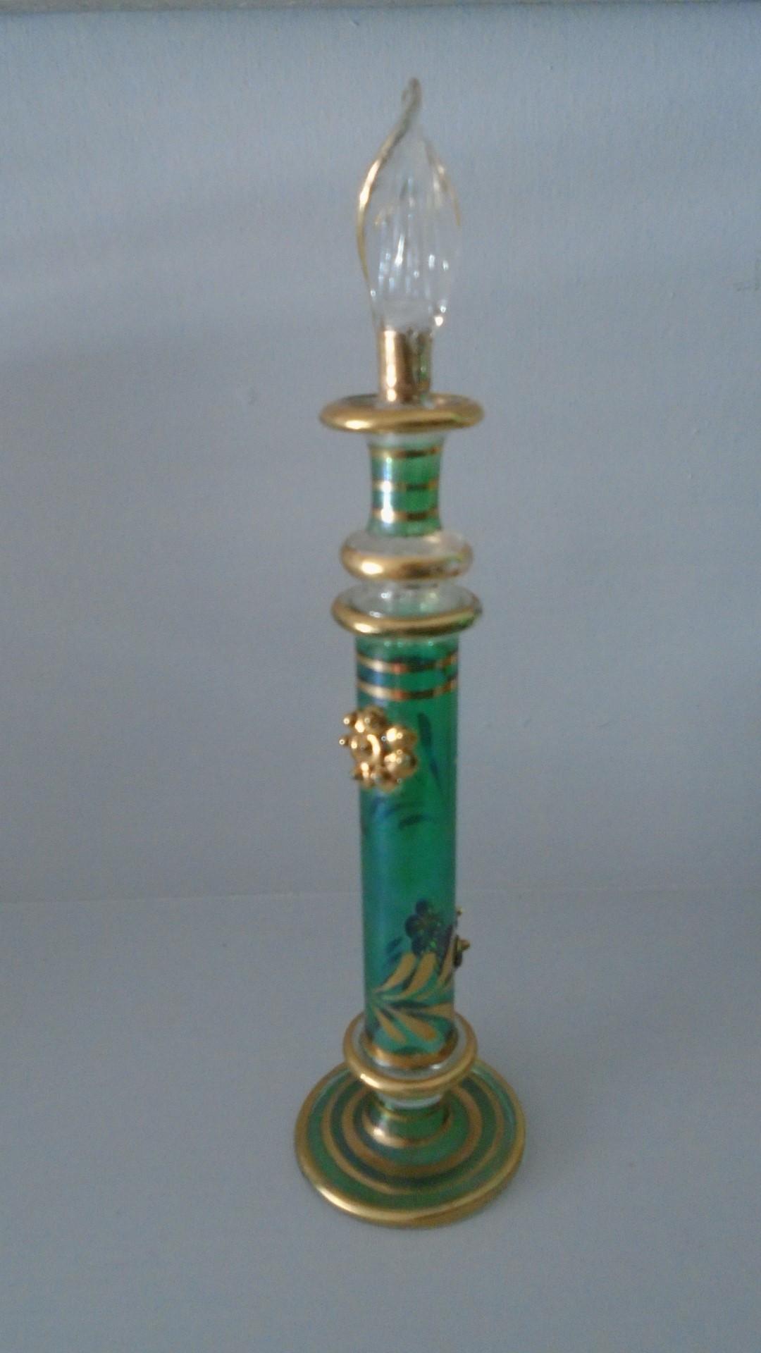 19.5cms high pretty glass perfume bottle