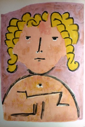 Original vintage Lithograph of Paul Klee's Tete d'enfant