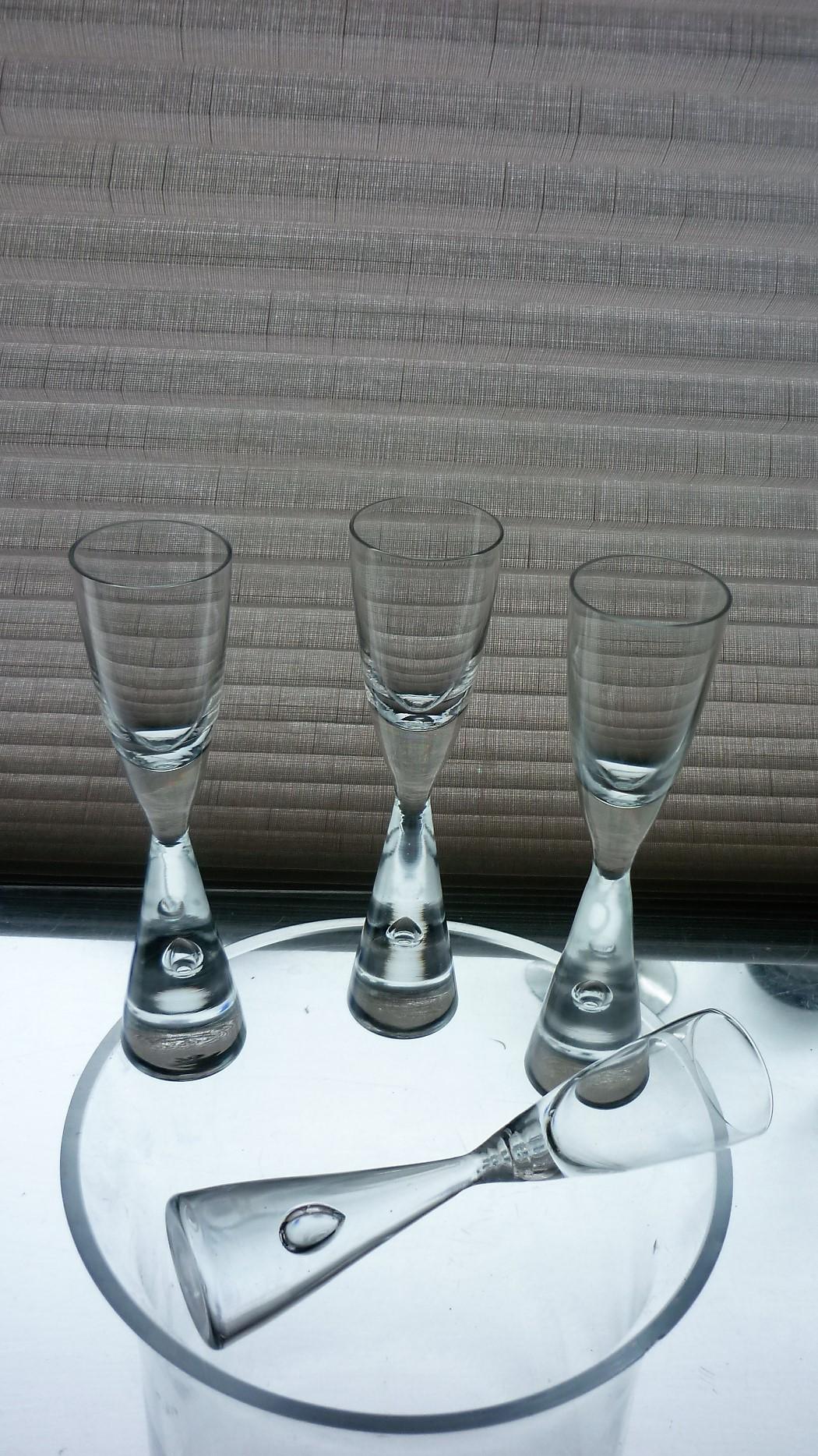 """Set of 4 Vintage Holmegaard """"Princess"""" Liquor Glasses"""