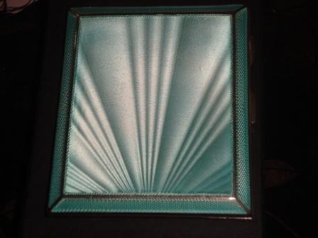 Art Deco Silver and Guilloche Cigarette/Card Case