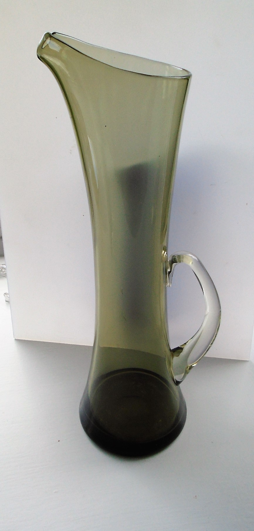 Vintage iconic 60s Whitefriars Glass Martini Jug designed by Peter Wheeler