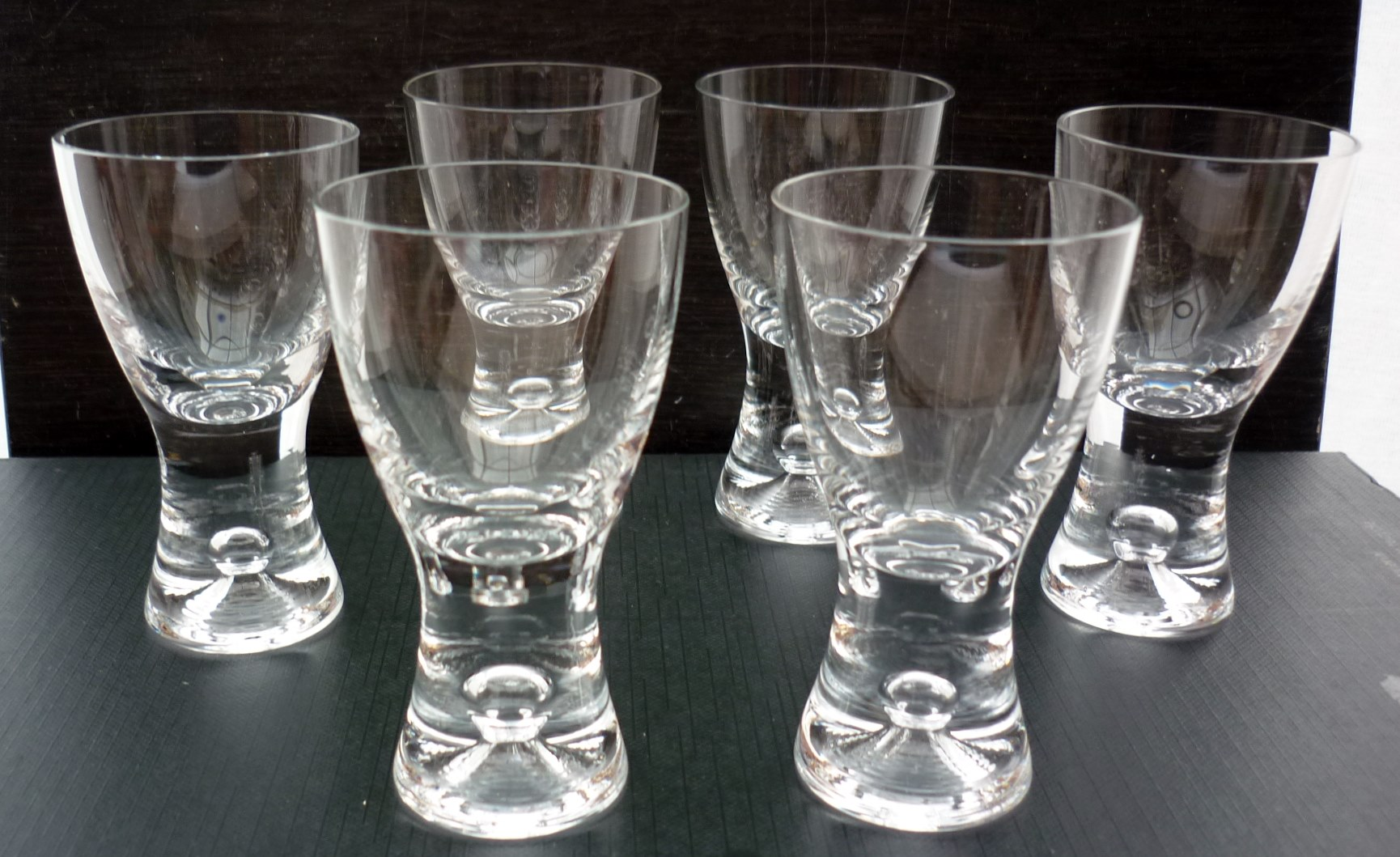 "6 Iittala ""Tapio"" shot glasses"