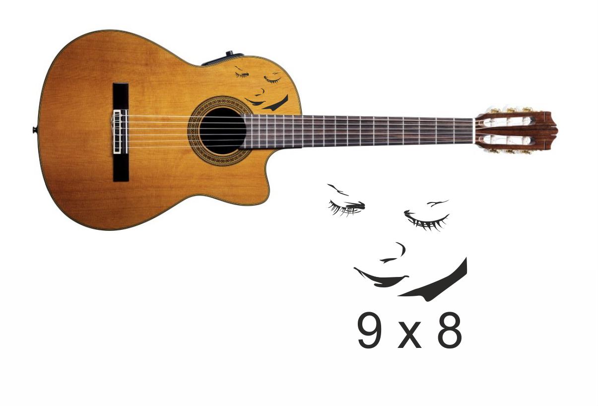 Gitarrenaufkleber 10
