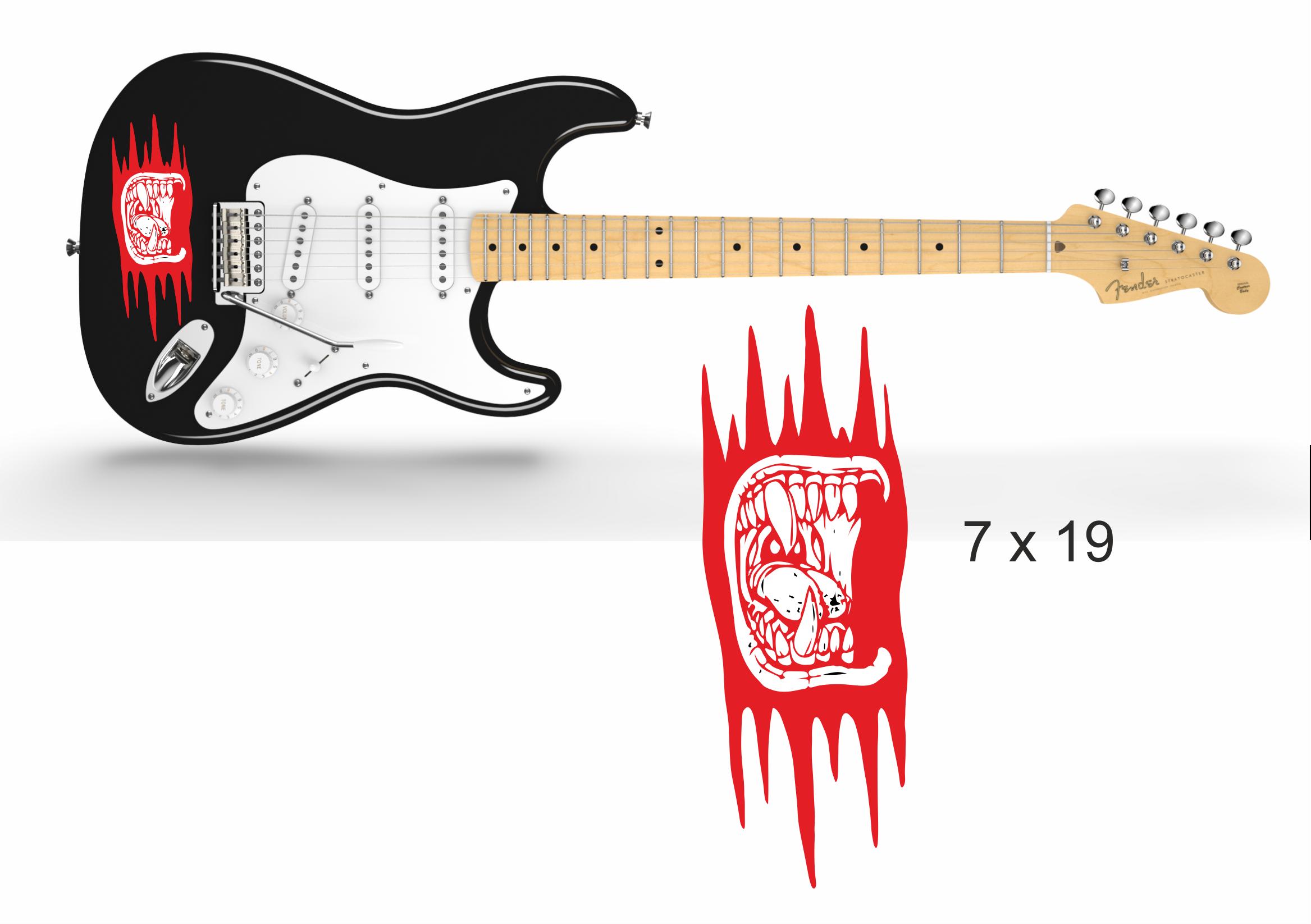 Gitarrenaufkleber 04