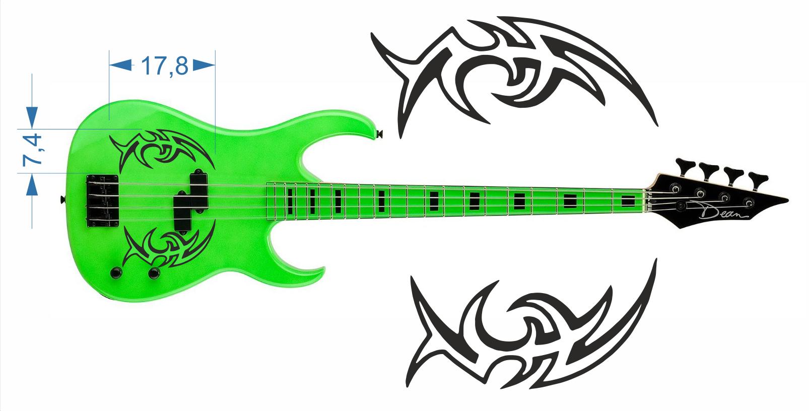 Gitarrenaufkleber 06