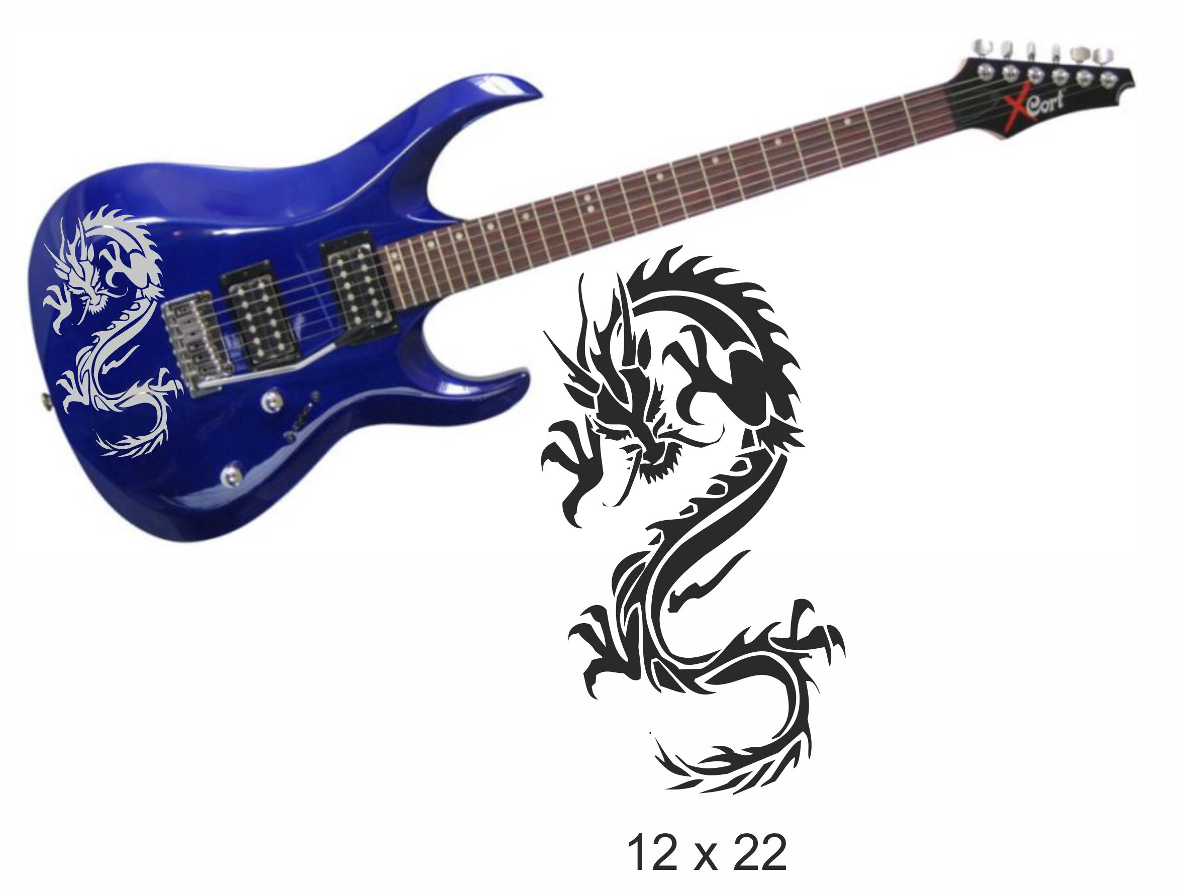 Gitarrenaufkleber 02