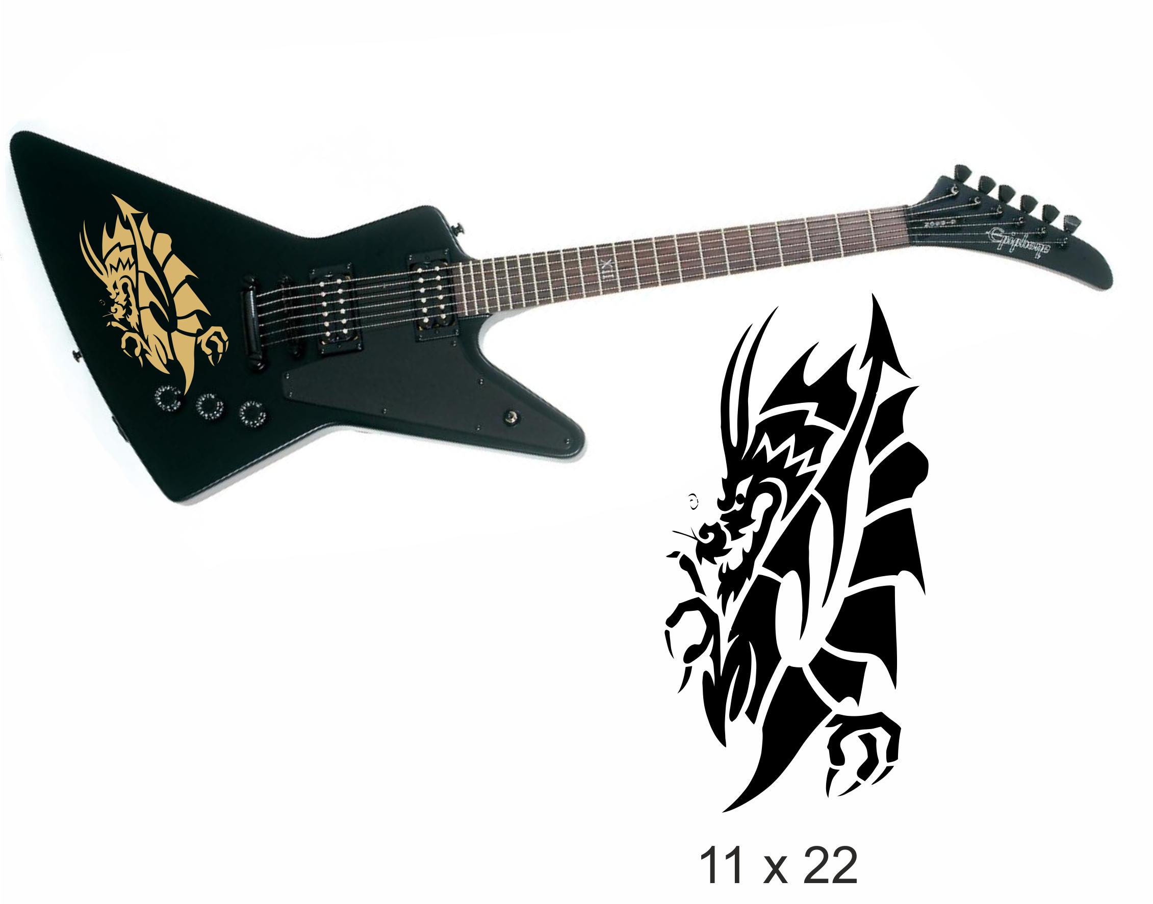 Gitarrenaufkleber 01