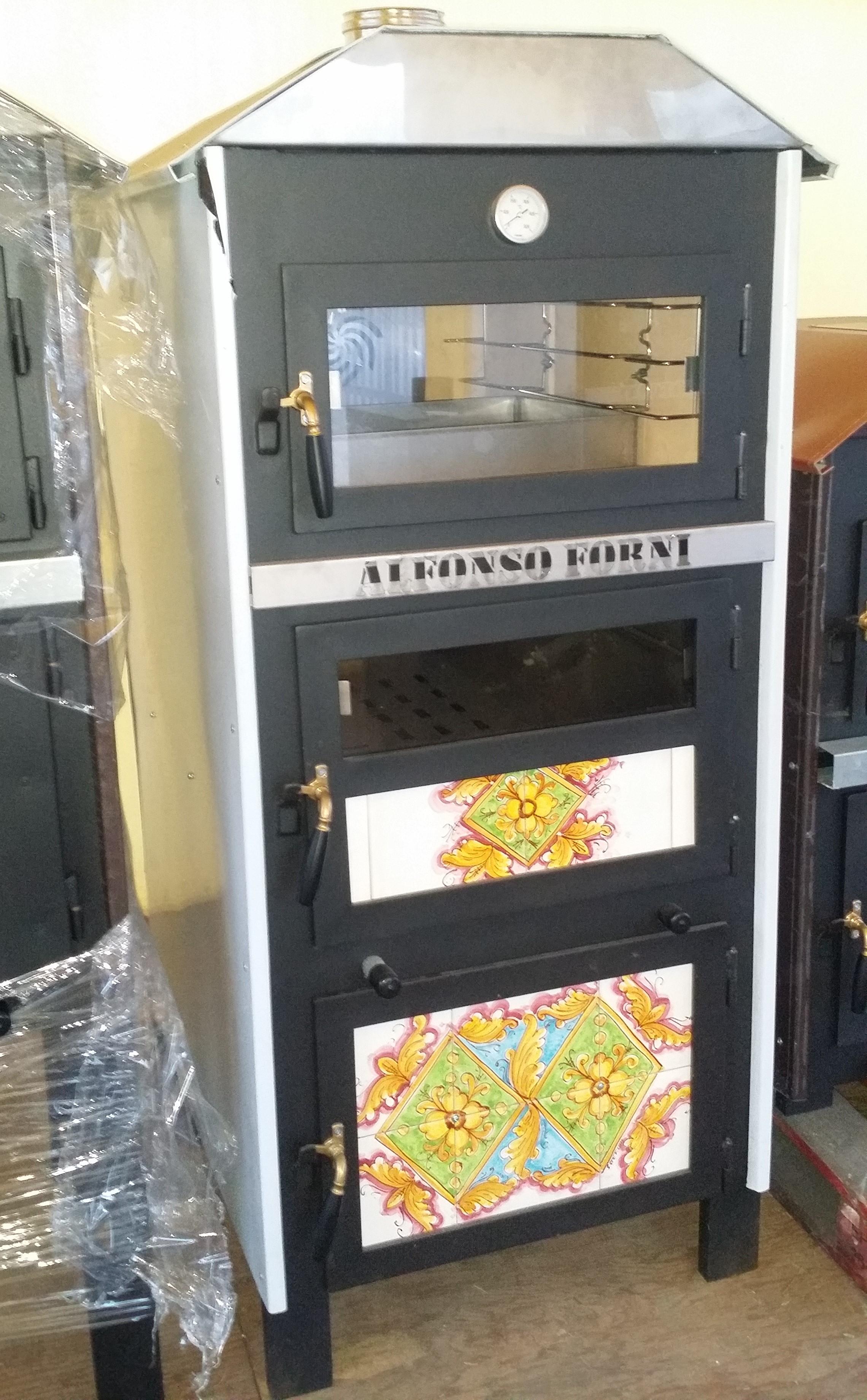 LUXOR V2 rivestito in INOX con box multiuso, maioliche e piano cottura unico PRONTA CONSEGNA