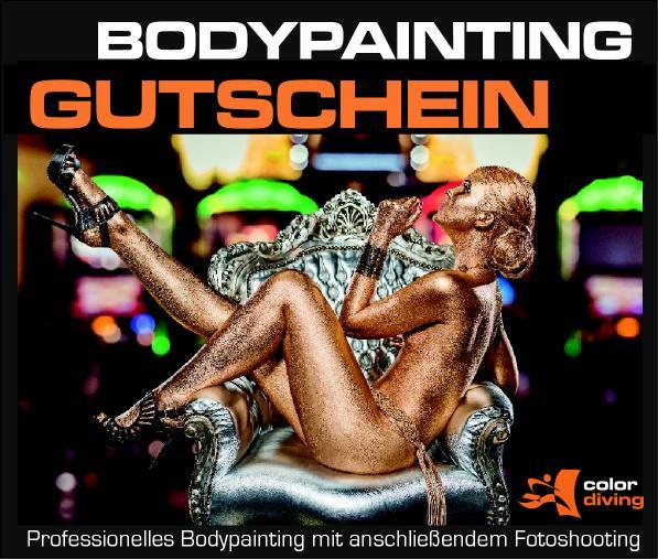Gutschein GOLD Bodypainting mit Fotoshooting
