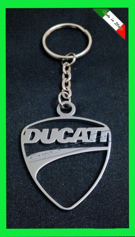 Portachiave Moto DUCATI in ACCIAIO INOX