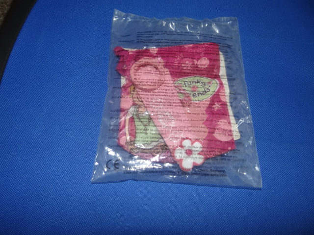 McDonalds Funky Friends Pink Bag With Mirror & Pink Wrist Cuff Toy From 2008 New