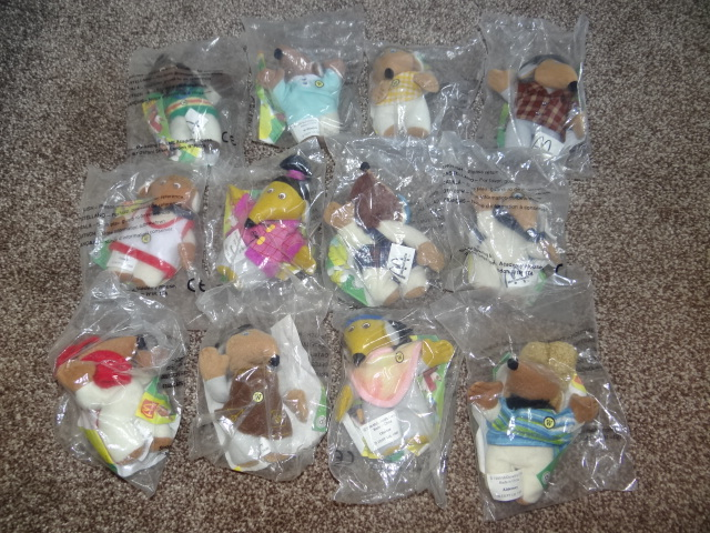 McDonalds Wombles Full Set From 1999 New