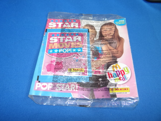 McDonalds Panini Mini Sticker Album Star Moves Pop! Sticker Album Toy From 2008 New