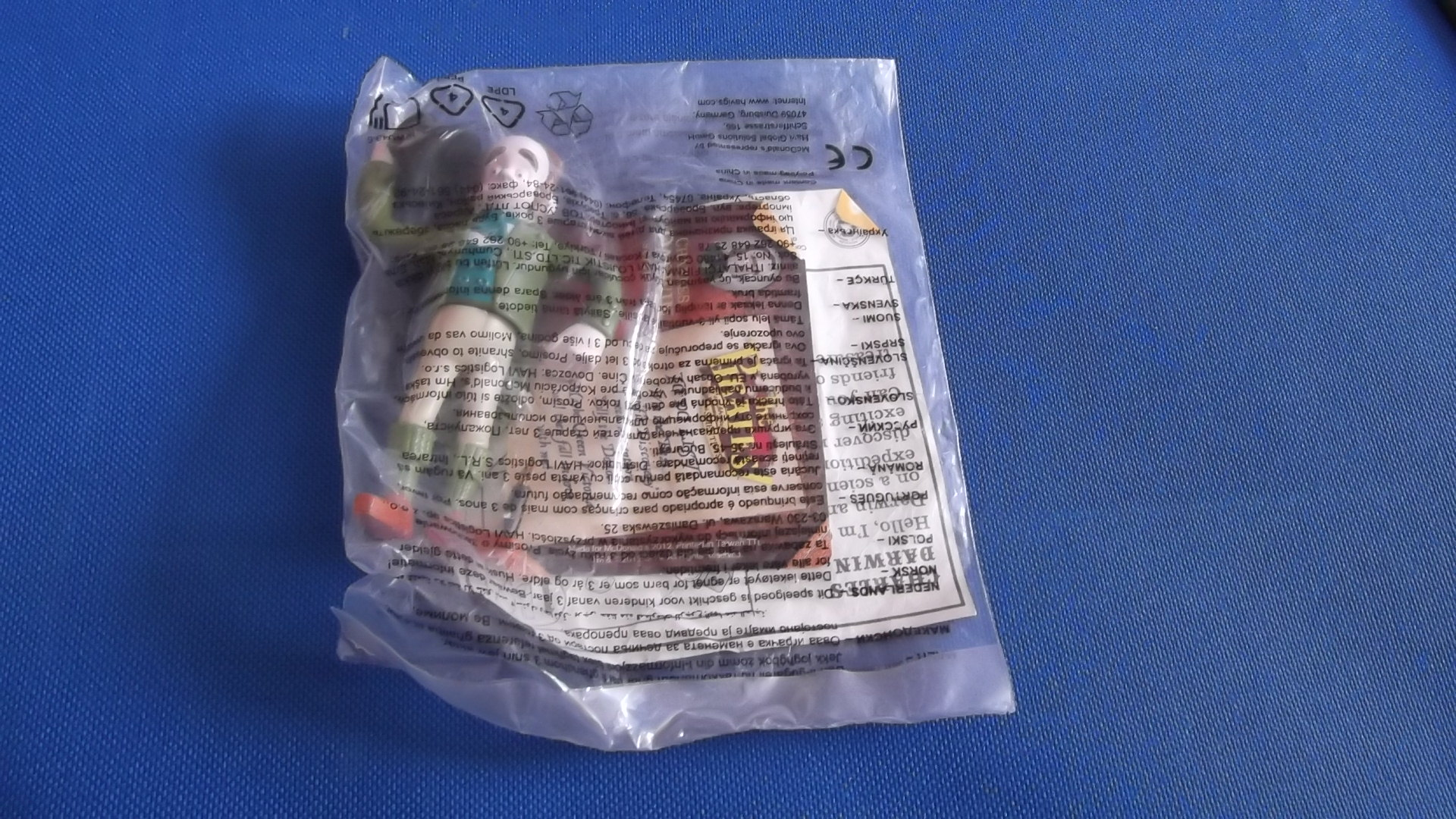 McDonalds The Pirates In An Adventure With Scientists Charles Darwin Toy From 2012 New