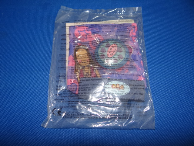 McDonalds Funky Friends Purple Bag With Stickers & Denim Wristband Toy From 2008 New