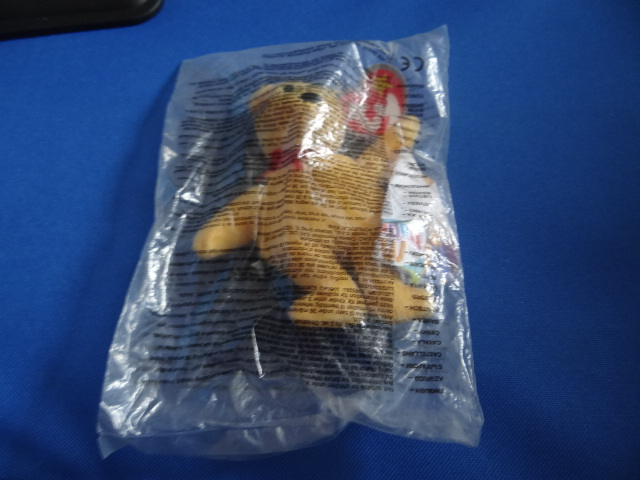 McDonalds TY Beanie Bears Yazzie The Yellow Bear Toy From 2005 New