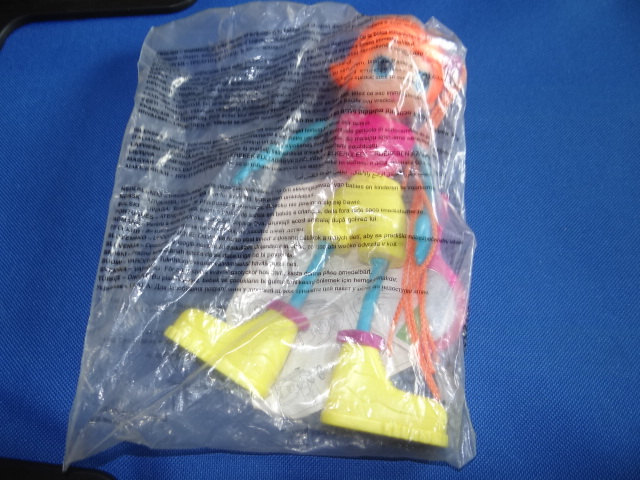 McDonalds Betty Spaghetti Orange Haired Doll Toy From 2002 New