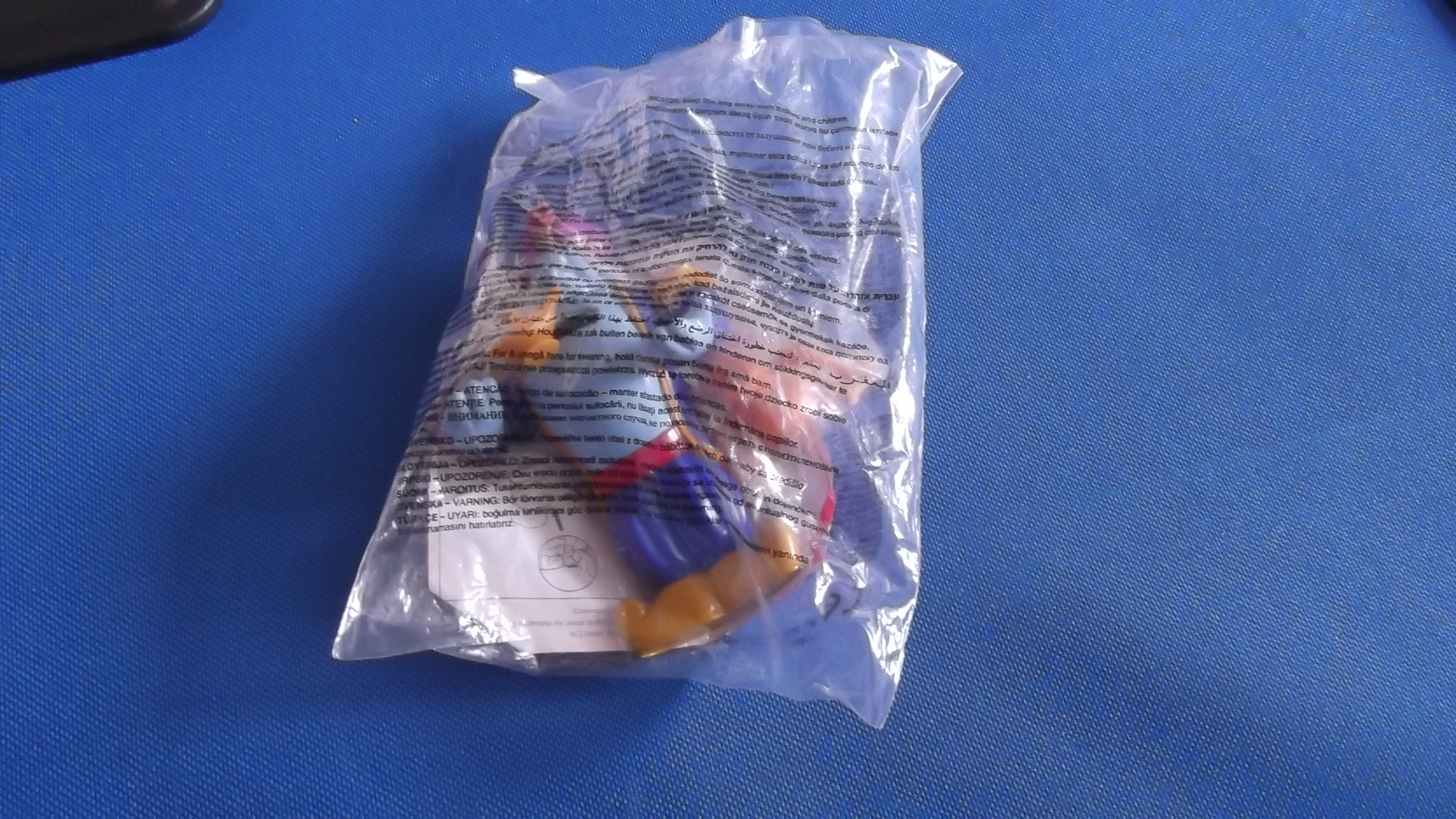 McDonalds Disneyland Paris Abu & Genie Toy From 2001 New