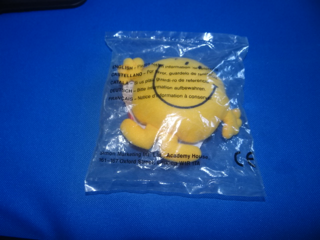 McDonalds Mr Men & Little Miss Mr Happy Toy From 1999 New