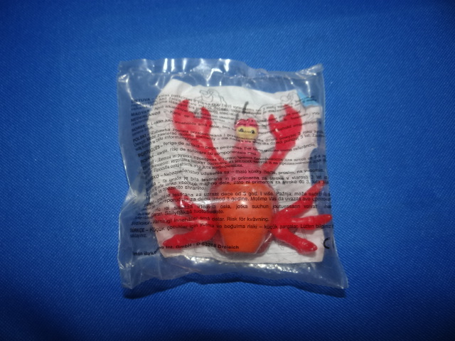 McDonalds The Little Mermaid Sebastian Toy From 1998 New