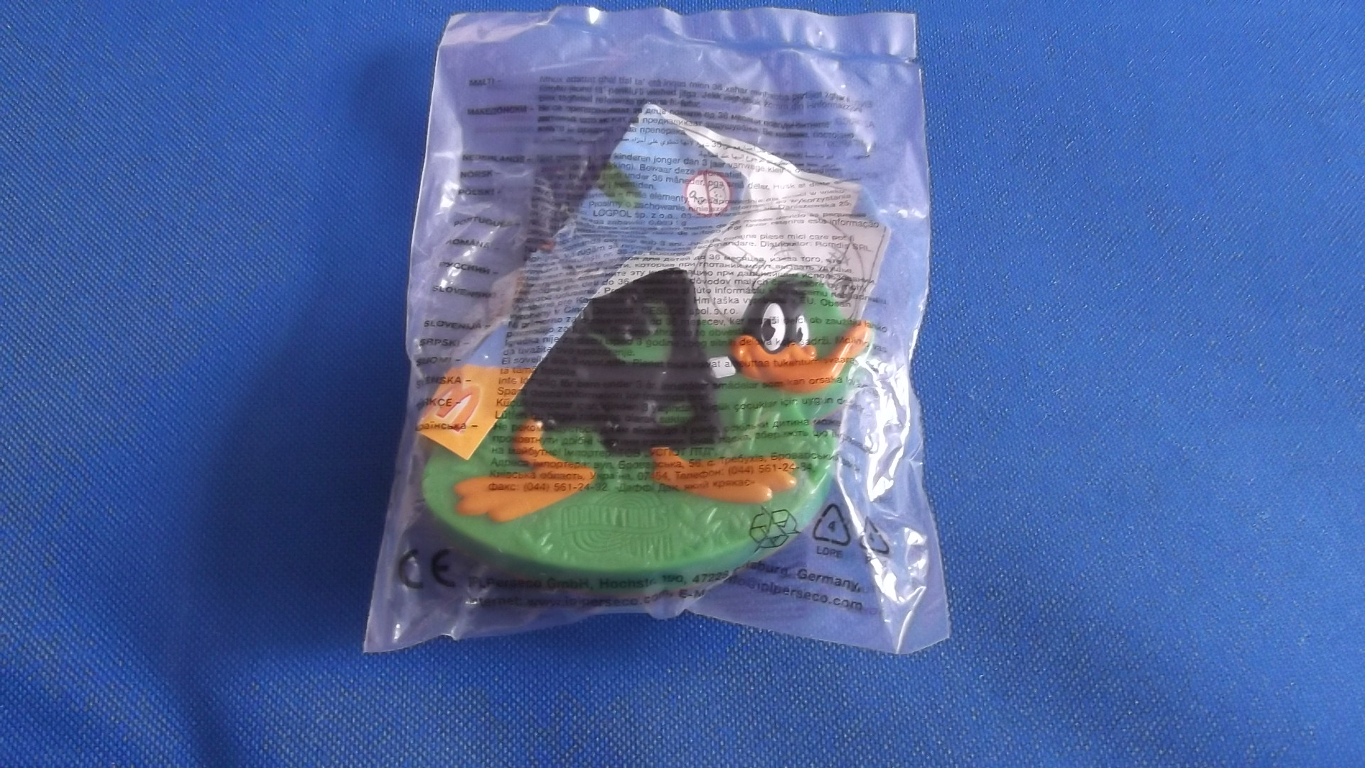 McDonalds Looney Tunes Active Daffy Duck Toy From 2009 New