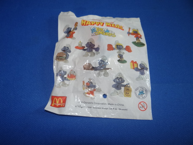 McDonalds The Smurfs Smurf With Guitar Toy From 1998 New