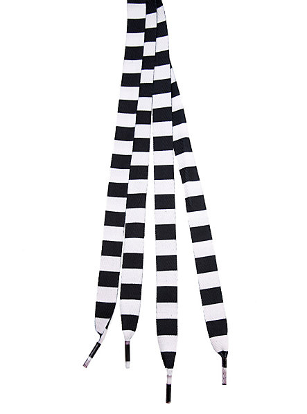 Lacci righe verticali nero/bianco