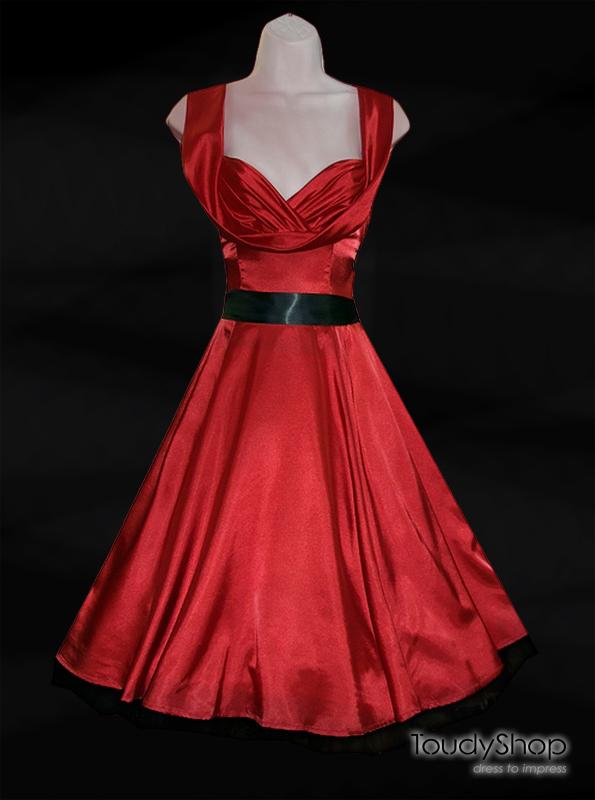 H&R '50 Red Satin Dress  (45 EUR)
