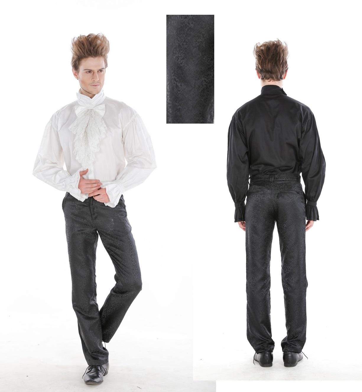 Pentagramme Black Brocade Trousers