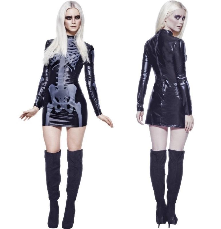 Fever Miss Whiplash Skeleton Dress