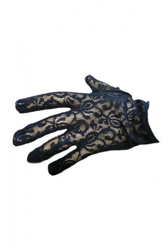 Phaze guanti in pizzo nero