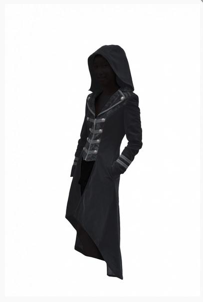 Pentagramme cappotto con cappuccio