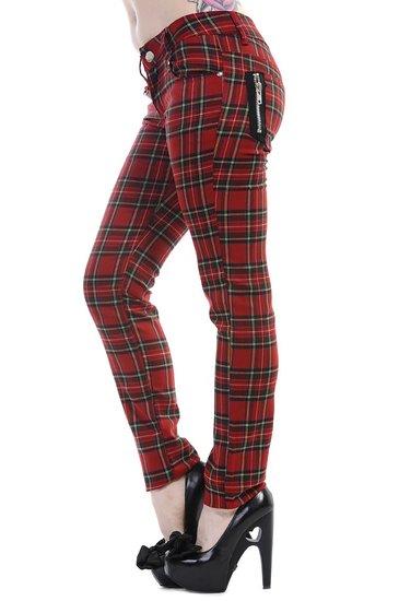 Banned Pantalone Tartan Rosso