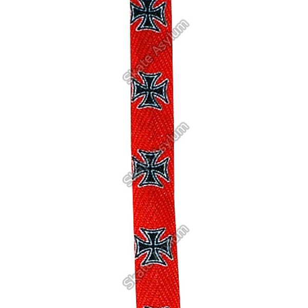 Lacci rossi con croce di Malta