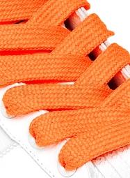 Lacci per scarpe arancio fluo