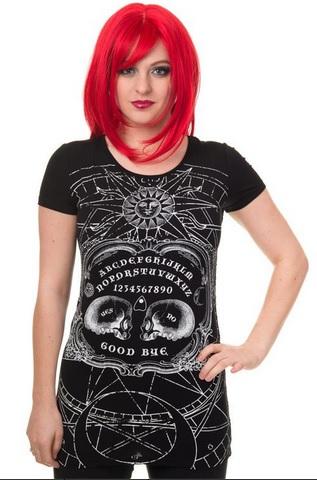 Banned maglietta con tavola Ouija con due teschi (35 EUR)