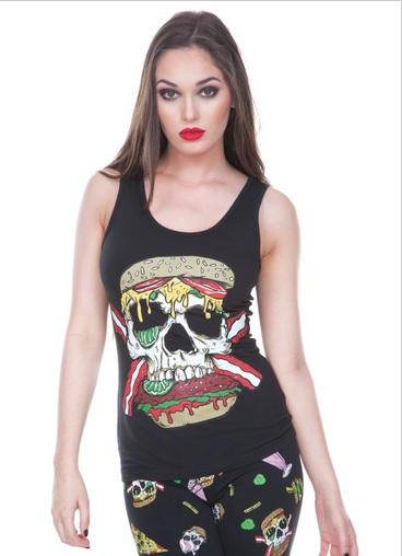 Vodoo Vixen Skull burger retro corset