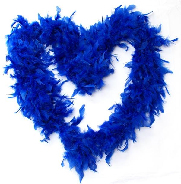 Boa di piume Blu elettrico
