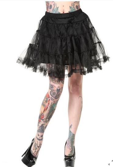 Banned Petticoat nero corto