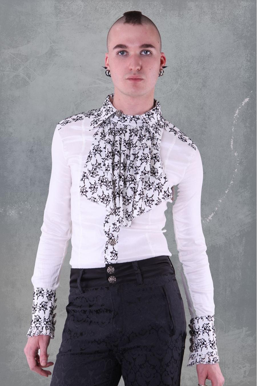 Pentagramme Camicia Gothic Uomo Rosso cangiante