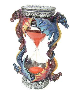 Soprammobile clessidra con dragoni